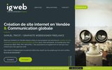 screenshot http://www.igweb.fr igweb  création de site internet en vendée 85