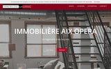 screenshot http://www.immobiliere-aix-opera.com achat maison aix-en-provence, location appartement aix-en-provence