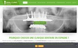 screenshot http://www.implantologia-oralclinic.com/fr Clinique Dentaire - Tourisme Dentaire Espagne