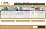 screenshot http://www.imset.ens.tn/ imset : centre formation professionnelle tunisie
