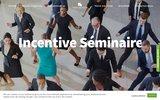 screenshot http://www.incentive-seminaire.fr/index.php agence événementielle