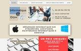screenshot http://www.informatiqueadom67.fr dépannage, formation informatique sur strasbourg