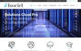 screenshot http://www.isociel.fr isociel:votre partenaire en services informatiques