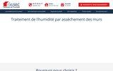 screenshot http://www.isosec.fr asséchement des murs,  remontée capillaire