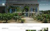screenshot http://www.jacques-rouze.fr vins AOC de Quincy, Reuilly et Chateaumeillant