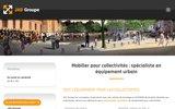 screenshot http://www.jadgroupe.fr fournisseur pour collectivités