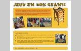 screenshot http://www.jeux-bois.eu jeux en bois géants