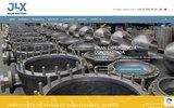 screenshot http://www.jlx-valve.com/fr/ Fabrication de robinetterie industrielle