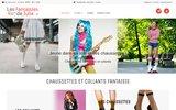 screenshot http://www.julie-fantaisies.com/ chaussettes  collants fantaisies