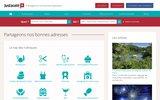 screenshot http://www.justacote.com justacoté : avis sur les commerces et services de proximité