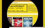 screenshot http://www.kayaconcert.fr informations gratuites de musique par flyers