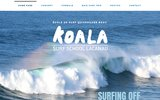 screenshot http://www.koalasurfschool.com ecole de surf lacanau-koala surf school.