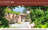 screenshot http://www.la-badelle.com/ chambre d'hôtes à gordes : la badelle