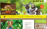 screenshot http://www.lacouleeducerf.fr parc animalier la coulée du cerf