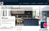 screenshot http://www.lacuisinerie.fr création de cuisine par des cuisinistes en Vendée