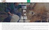 screenshot http://www.lafermebiodumaneo.fr Ferme Bio du manéo