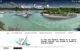 screenshot http://www.lagaredesramieres.com la gare des ramières, nature, environnement et tourisme en drome.