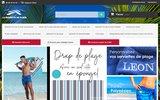 screenshot http://www.laserviettedeplage.fr la serviette de plage.fr