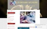 screenshot http://www.lecritoiresegaline.com/ l'écritoire ségaline