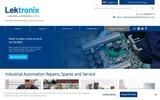 screenshot http://www.lektronix.net/ pièces de rechange et réparations en automation industrielle