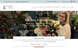 screenshot http://www.lelupinfleuriste.com Fleuriste
