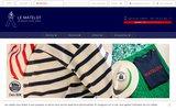 screenshot http://www.lematelot.com Le Matelot boutique de mode marine vente de vêtements marins saint James