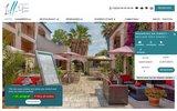 screenshot http://www.les2mas.com/ Hôtel trois étoiles à Perpignan
