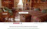 screenshot http://www.lesbrunes.com/fr/ chambre d'hôte aveyron