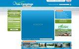 screenshot http://www.lescampingsdefrance.com le guide du camping en France