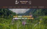 screenshot http://www.lesrucherssaintemarie.com Vente de miel