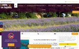 screenshot http://www.lestruffieres.com/ camping drome provencale les truffieres
