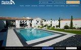 screenshot http://www.linstantpiscine.fr Aqua services l'instant piscine