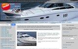 screenshot http://www.location-bateaux-06.fr Location bateaux sur la côte d'Azur au meilleur prix