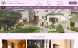 screenshot http://www.logisdesremparts.com hôtel 3 étoiles le logis des remparts au coeur de la cité médiévale de saint emilion, gironde,