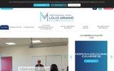 screenshot http://www.lp-louis-armand.fr lycée professionnel maintenance mode