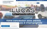 screenshot http://www.lucasautomobiles.com lucas automobiles franche-comté