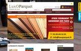 screenshot http://www.luxoparquet.fr lames de terrasse et parquet à prix discount