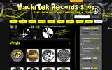 screenshot http://www.mackitekrecords.com mackitek records shop