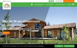 screenshot http://www.maison-bois-vallery.com maison bois vallery en pin des landes