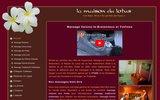 screenshot http://www.maisondulotus.com centre de massage dans les yvelines, 78