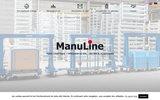 screenshot http://www.manuline.fr matériel de manutention et de stockage manuline