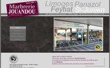 screenshot http://www.marbrerie-jouandou87.com/ pompes funèbres et marbrerie limoges 87