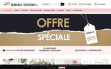screenshot http://www.mariage-discount.fr mariage discount