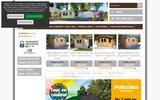 screenshot http://www.marin-ecobois.com/ chalets habitables en bois, abris de jardin et carport