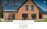 screenshot http://www.mb2f.com construction de maison en bois