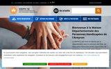 screenshot http://www.mdph12.fr maison départementale des personnes handicapées aveyron