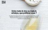 screenshot http://www.mets-vins-whiskys.fr/ oenologie