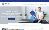screenshot http://www.mhadmaterielmedical.com matériel médical à Loches 37