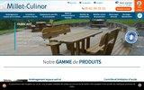 screenshot http://www.millet-culinor.com/ mobilier urbain et aménagement de collectivités