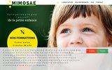 screenshot http://www.mimosae.com mimosae création, gestion de crèche